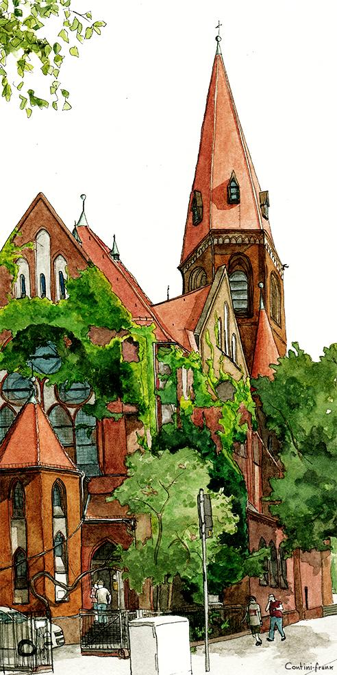 Heilige-Geist-Kirche, Sara Contini-Frank