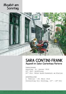 """Plakat für die Ausstellung """"Moabit am Sonntag"""" von Sara Contini-Frank"""