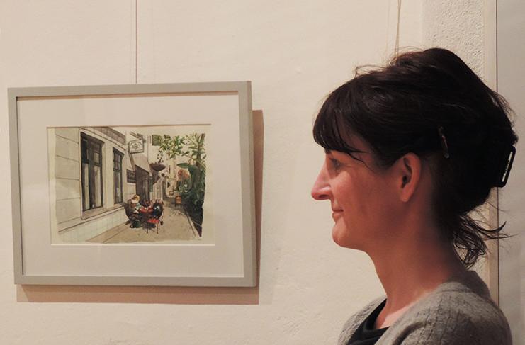 "Vernissage ""Moabit am Sonntag"" von Sara Contini-Frank. Foto: Raimar Heber"