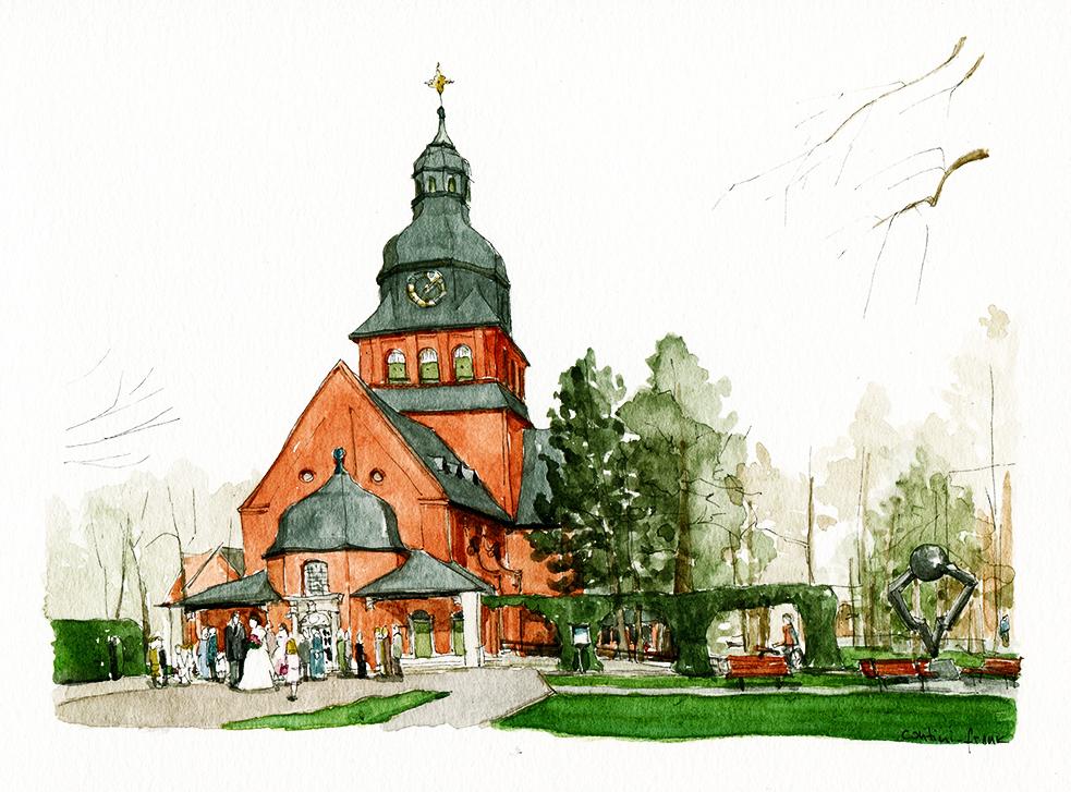 Die Stiftskirche an der Schönwalder Allee, Sara Contini-Frank