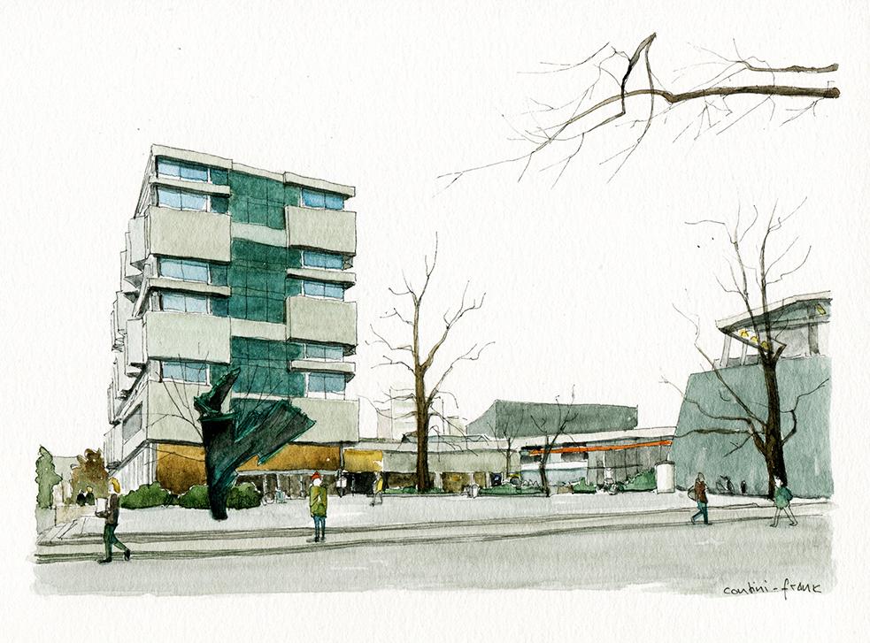 Architekturfakultät der TU Berlin in der Straße des 17. Juni, Sara Contini-Frank