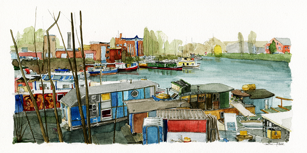 Hausboote am Westhafen, Sara Contini-Frank