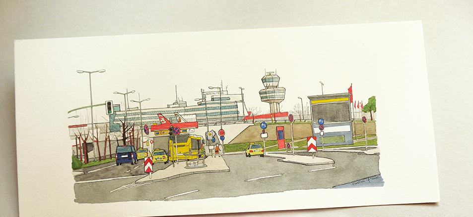 Der Flughafen Berlin-Tegel, Sara Contini-Frank