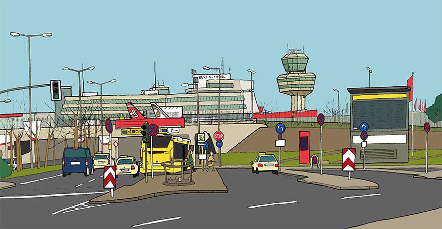 Der Flughafen Tegel, Sara Contini-Frank