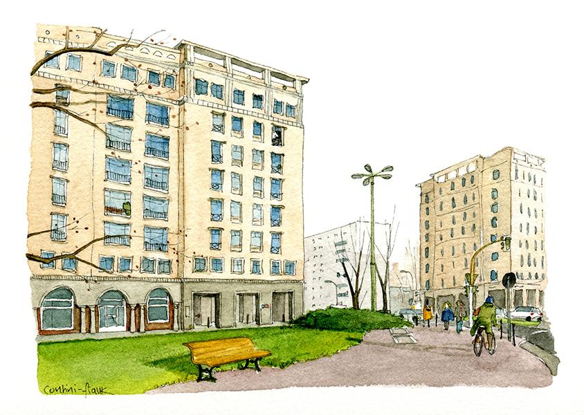 Der Strausberger Platz, Sara Contini-Frank