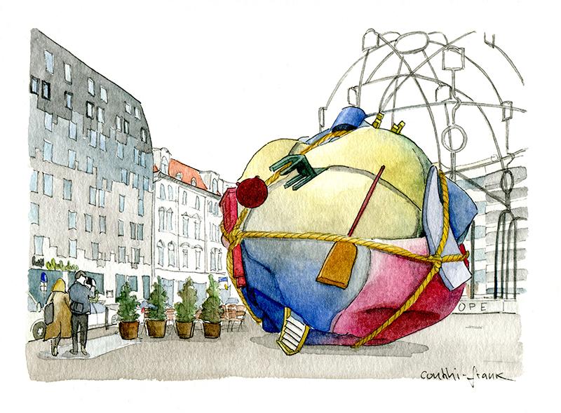 Der Bethlehemkirchplatz, Sara Contini-Frank